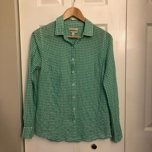 "J. Crew ""Perfect"" Fit Checkered Buttoned Shirt"